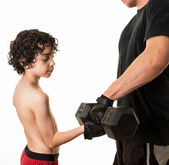 Helping new generations to exercise — Stock Photo