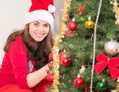 Enjoying the Christmas Tradition — Стоковое фото