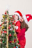 Beautiful Christmas Tree Scene — Zdjęcie stockowe