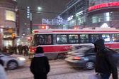 Toronto sotto una tempesta di neve — Foto Stock