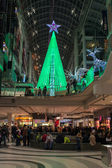 Christmas Decorations in Eaton Centre, one of Canada's largest malls — Stock Photo