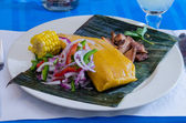 Tamal: Traditional Latin American Food — Stock Photo