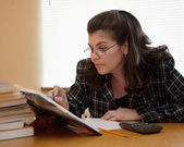 Adult person studying — Stock Photo