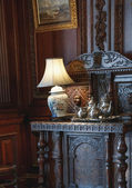 Detail of the interior furniture in Casa Loma — Stock Photo