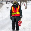 Stock Photo: CanadWeather: Next day of Toronto Winter Blast