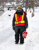 Canada Weather: Next day of Toronto Winter Blast — Stock Photo