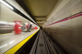 Inside a subway tube or tracks — Foto Stock