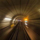 Inside a subway tube or tracks — Stock Photo