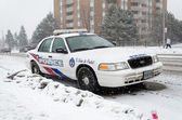 Toronto Police Car under the snow — Foto Stock
