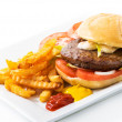 Classic Original Beef Burger — Stock Photo