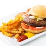 Classic Original Beef Burger — Stock Photo