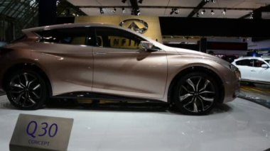 Infinity Q30 seen at CIAS 2014 — Video Stock