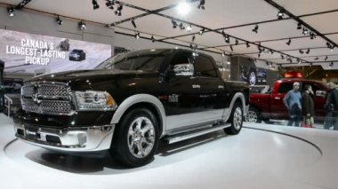 New Dodge RAM seen at CIAS 2014 — Stock Video