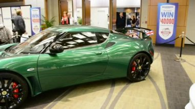 Views of various Exotic Cars at CIAS 2014 — Stock Video