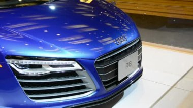 Audi R8 seen at CIAS 2014 — Stock video
