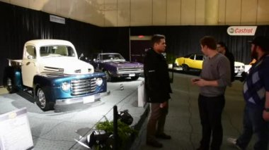 Vintage Ford and General Ambience at CIAS 2014 — Stock Video