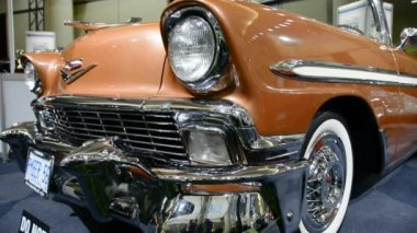 Beautiful Chevrolet from the 50's in the CIAS 2014 — Stock Video