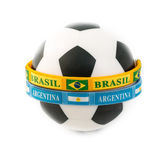 Brazil and Argentina Rivals in the Soccer Arena — Stock Photo