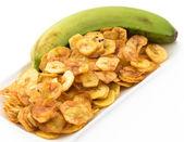 Chips de plátano verde de la cocina cubana — Foto de Stock