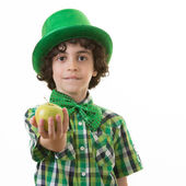 Enfant pendant les célébrations de saint patrick — Photo