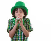 Funny Child during St. Patrick's Day — Stockfoto