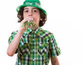 Funny Child during Saint Patrick celebrations — Stockfoto