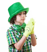 Child during Saint Patrick celebrations — Stock Photo
