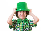 Hispanic Child Having Fun during St. Patrick's Day — Stock Photo