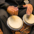Постер, плакат: Musician playing the bongos