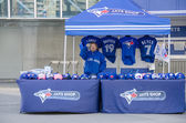 Blue Jays Memorabilia outside the stadium — Stock Photo