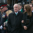 Brian Mulroney and his daughter Caroline at Jim Flaherty's State Funeral — Stock Photo