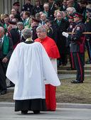 Collins de thomas cardeal canadense jim durante o funeral de estado flaherty — Foto Stock