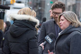 Andrea Horwath at Jim Flaherty's Funeral in Toronto — Stock Photo