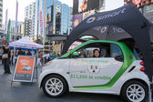 Smart cars promotional display in Dundas Square — Stock Photo