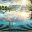 Resort swimming pool in tropical country — Stock Photo #51302151