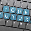 Stock Photo: Your future on keyboard