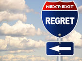 Regret road sign — Stock Photo