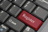 Register on keyboard — Stock Photo