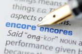 Encore - Dictionary Series — Stock Photo
