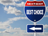 Best choice road sgin — Stock Photo