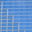 Blue business building window - Stock Photo