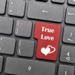 Stock Photo: True love on keyboard