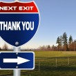 Thank you road sign - Stock fotografie