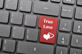 True love on keyboard — Stock Photo