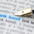 Junk bond - Dictionary Series — Stock Photo
