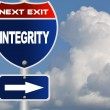 Integrity road sign - Stock Photo