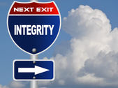 Integrity road sign — Stock Photo
