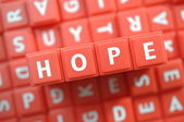 Red hope isolated — Stock Photo