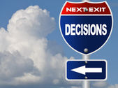 Decisions road sign — Stock Photo