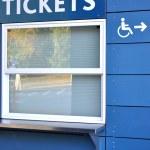 Tickets sell window — Stock Photo